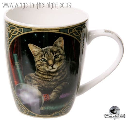 LISA PARKER Fortune Teller Cat China Mug
