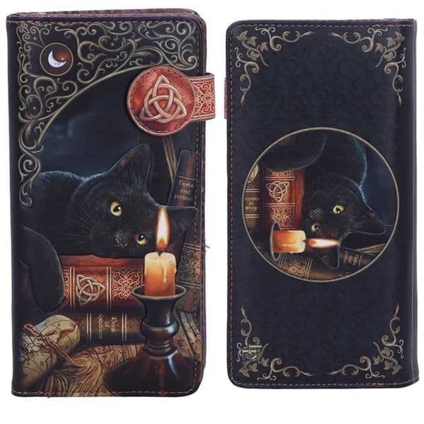 LISA PARKER Witching Hour Black Cat Embossed Purse