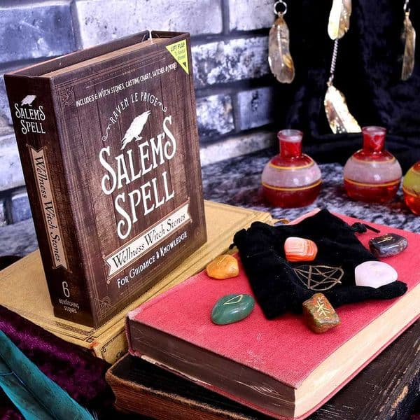 NEMESIS NOW Salem's Spell Kit Set of Six Witches Wellness Stones