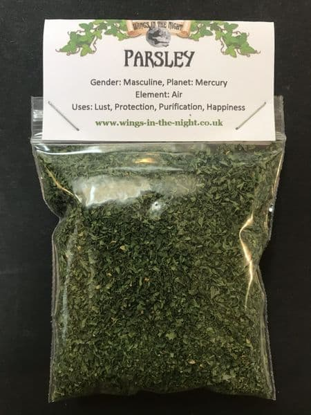 PARSLEY Dried Spell-Craft Herb - Happiness, Lust, Fertility