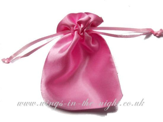 Satin Plain Pouch Bag Various Colours