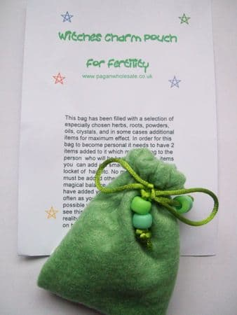WITCHES Fertility Green Charm Bag