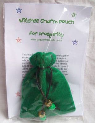 Witches Green Charm Bag for Prosperity