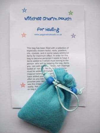 Witches HEALING Blue Charm Pouch