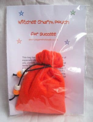 Witches Orange Charm Bag for Success
