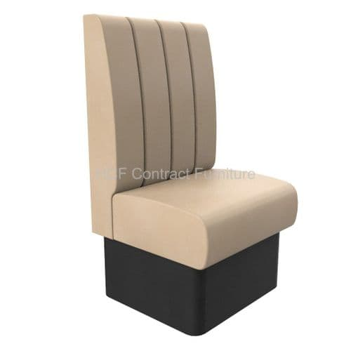 1 Seater Royale Deep Fluted - 600mm High Back Booth