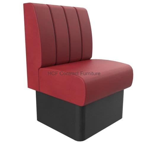 1 Seater Royale Deep Fluted and Roll Top - 600mm Booth