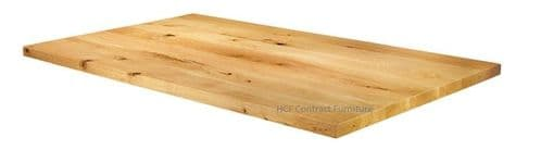 1200mm x 700mm x 32mm Natural Lacquered Solid Oak Table Top (P)