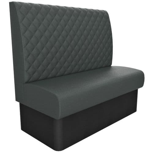 2 Seater Kansas Deep Diamond Quilted - High Back 1200mm Booth