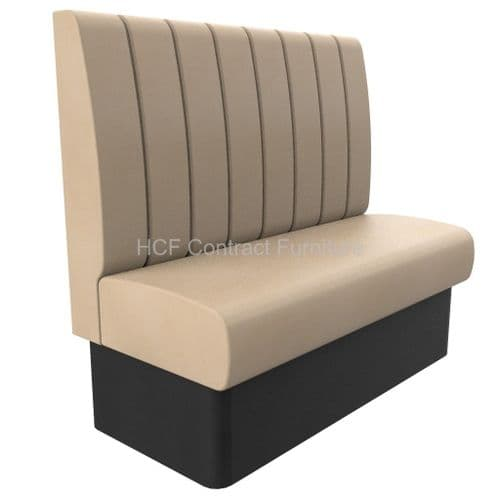 2 Seater Royale Deep Fluted - 1200mm High Back Booth