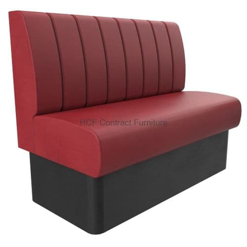 2 Seater Royale Deep Fluted and Roll Top - 1200mm Booth