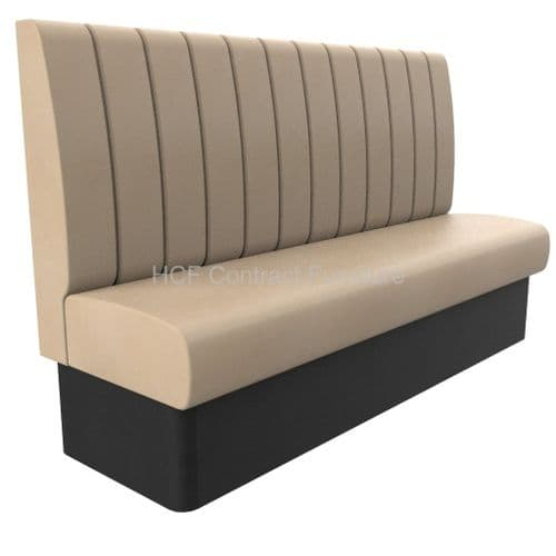 3-4 Seater Royale Deep Fluted - 1800mm High Back Booth
