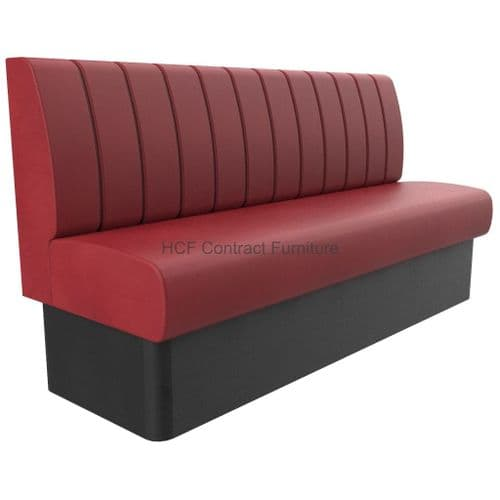 3-4 Seater Royale Deep Fluted and Roll Top - 1800mm Booth