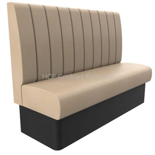 3 Seater Royale Deep Fluted - 1500mm High Back Booth