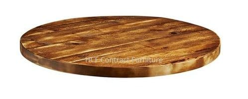 600mm dia Round x 32mm Thick Aged Rustic Solid Pine Wood Table Tops (P)