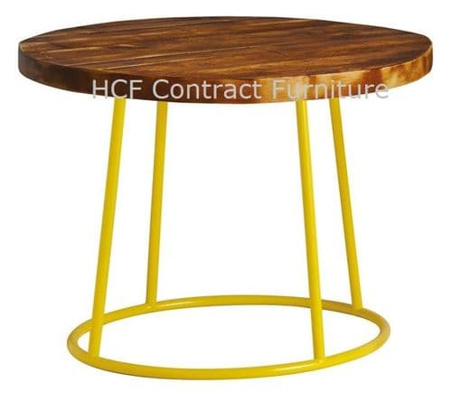 600mm dia Spruce - Complete Coffee Table-Yellow (P)