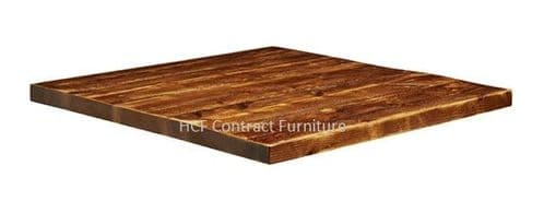 600mm  x 600mm x 32mm Thick Aged Rustic Solid Pine Wood Table Tops (P)