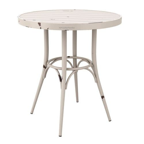 750mm dia Vintage Complete Table (P) White