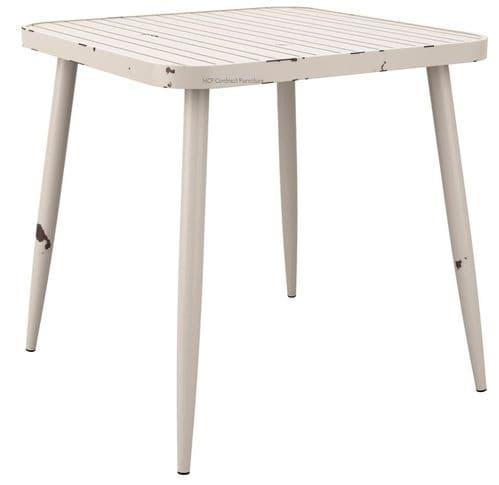 750mm Square Complete Table - White (P)
