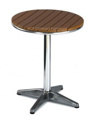 Amsterdam  600mm dia Round Table Complete NO WOOD Brown (GL)