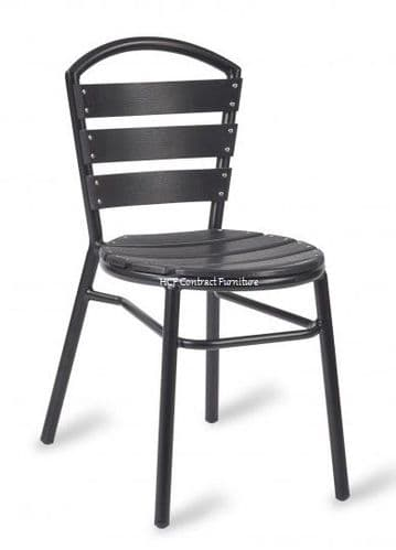 Amsterdam (NO WOOD) Bistro Side Chair-Black (GL)