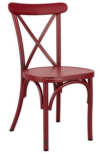 Beatrice Side Chair - Vintage Red (P)