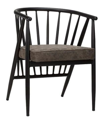 Black Frame/Grey Distressed  Maduk Side Chair (O)
