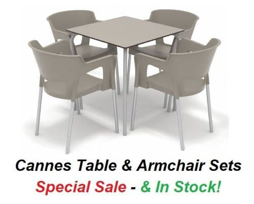 Cannes Stackable Table & ArmChair Set