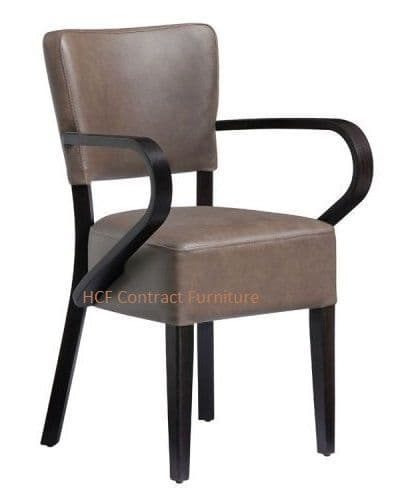 Canterbury Arm Chair - Wenge Frame-Distressed Bark (P)