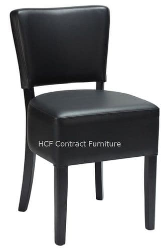 Canterbury Upholstered Side Chair - BLACK FRAME - Black  (O)