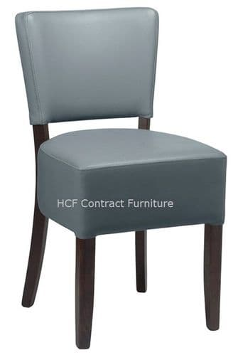 Canterbury Upholstered Side Chair - BLACK FRAME - Grey  (O)