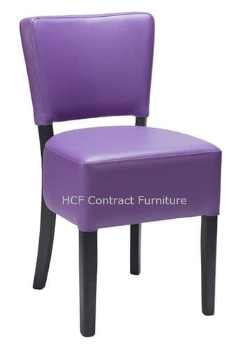 Canterbury Upholstered Side Chair - BLACK FRAME - Purple  (O)