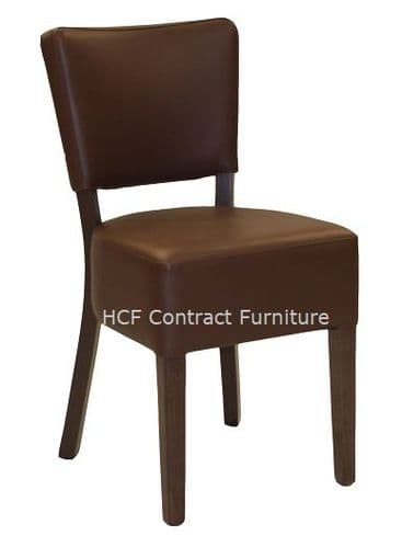 Canterbury Upholstered Side Chair - WALNUT FRAME - Brown (K)