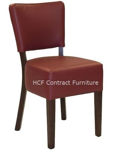 Canterbury Upholstered Side Chair - WALNUT FRAME - Burgundy (K)