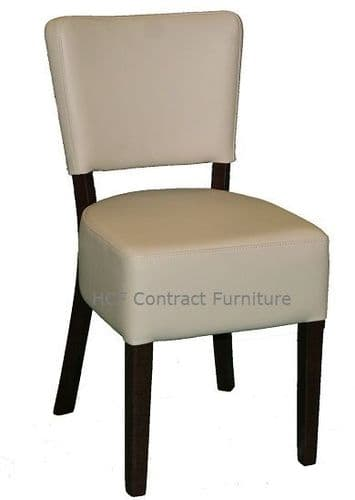 Canterbury Upholstered Side Chair - WALNUT FRAME - Cream (K)