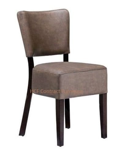 Canterbury Upholstered Side Chair-Wenge-Distressed Bark (Z)