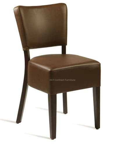 Canterbury Upholstered Side Chair - WENGE FRAME - Dark Brown (B,O,P)