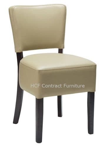Canterbury Upholstered Side Chair - WENGE FRAME - Moss Grey  (O)