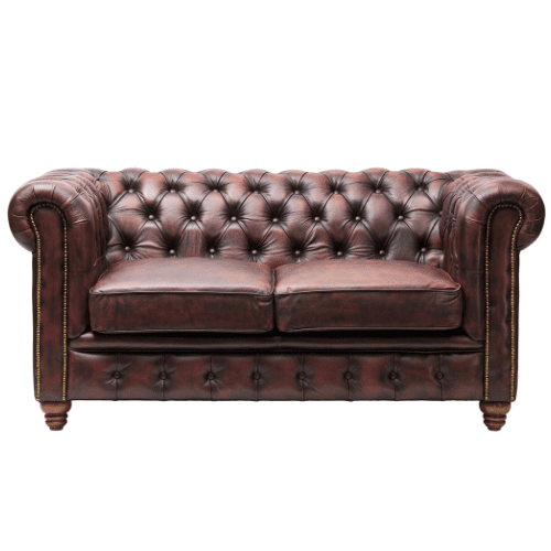 Contract Use Real Leather Chesterfield Sofa - 2 Colours