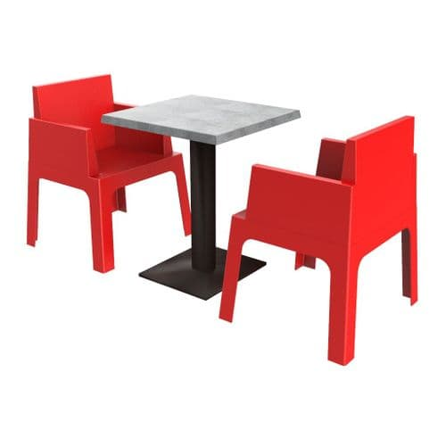 Cubix 2 Seater Set (includes Table)  -  Available in 7 Colours. Stackable