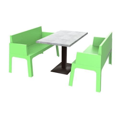 Cubix Booth Set (includes Table)  -  Available in 7 Colours. Stackable