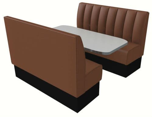 Deep Fluted Style Booth Seating