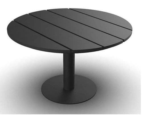 EnviroFriend Outdoor & Indoor Complete Table - 1200mm Round (Black)