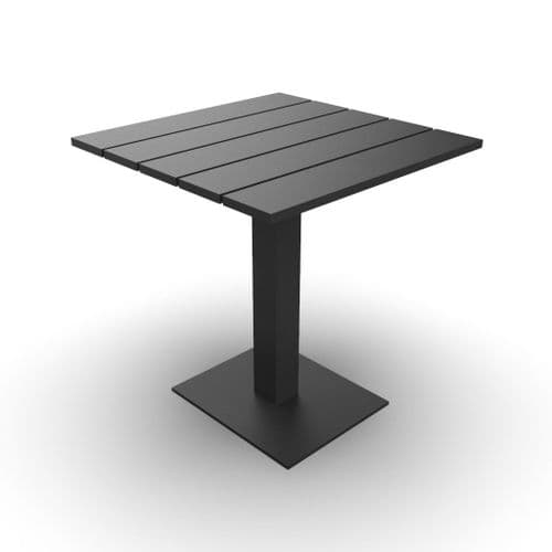 EnviroFriend Outdoor & Indoor Complete Table - 700mm x 700mm  (Black)