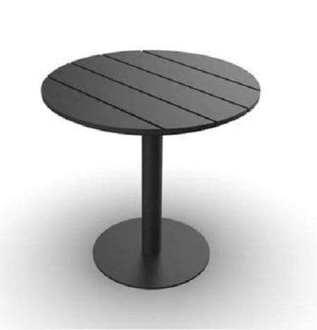 EnviroFriend Outdoor & Indoor Complete Table - 900mm Round (Black)