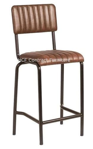 Fleming Mid Bar Stool Vintage Brown (P)