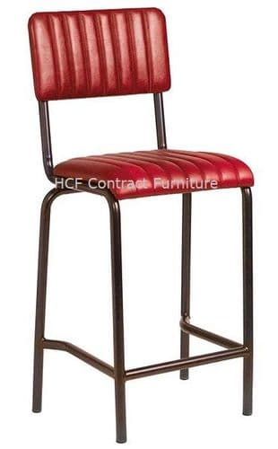 Fleming Mid Bar Stool Vintage Red (P)