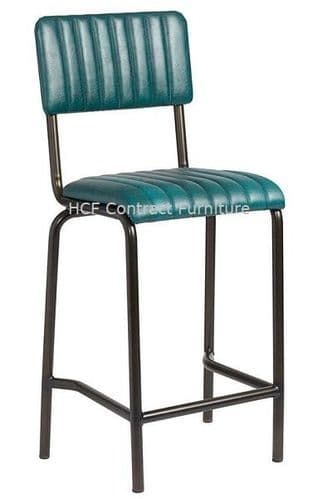 Fleming Mid Bar Stool Vintage Teal (P)