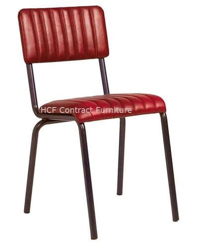 Fleming Side Chair Vintage Red (P)