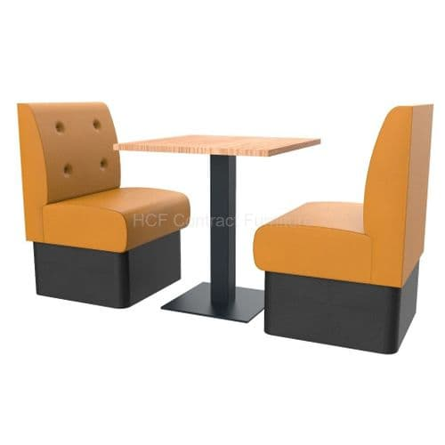 Floating Button Back 2 Seater Booth Set